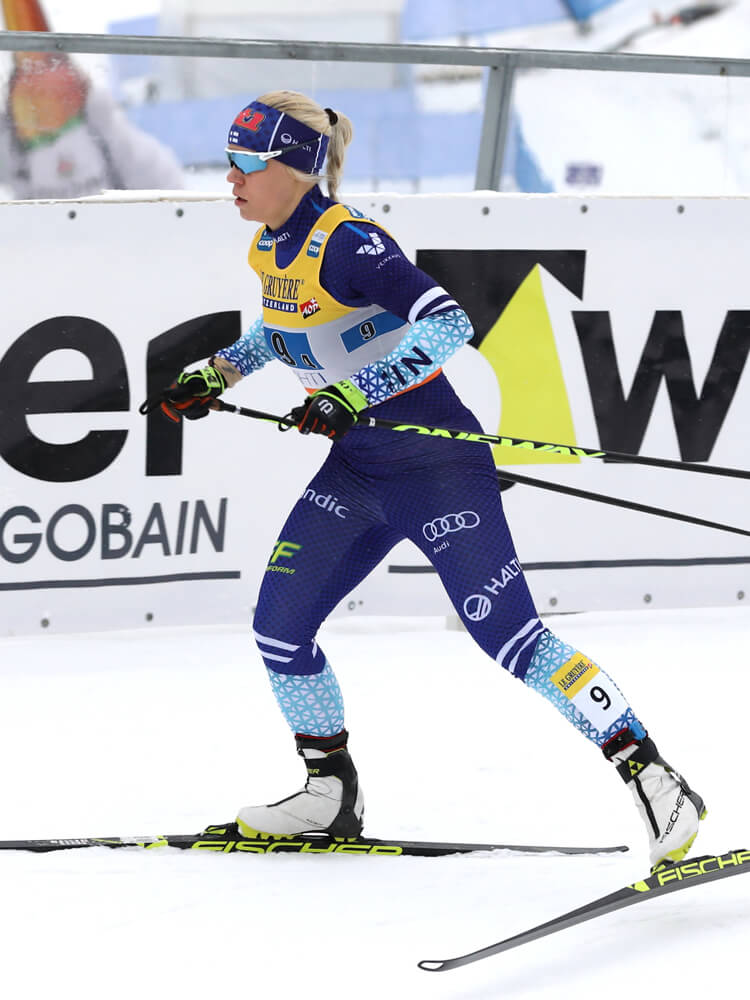 Team Decensin hiihtäjä Jasmi Joensuu